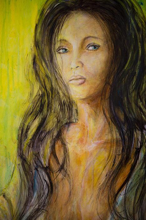 Eve Portrait Print by Nik Helbig