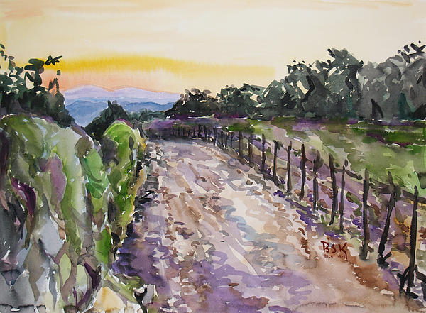 Becky Kim - Evening Country Road