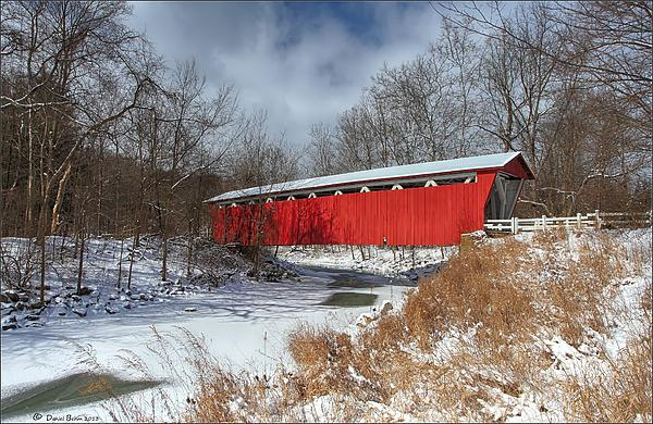 Everett Rd. Covered Bridge Print by Daniel Behm