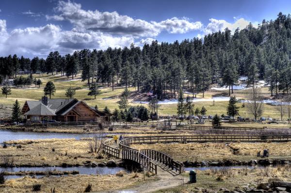 Evergreen Colorado Lakehouse Print by Ron White