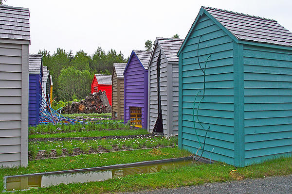 Every Garden Needs A Shed And Lawn Two In Les Jardins De Metis/reford Gardens Near Grand Metis-qc Print by Ruth Hager