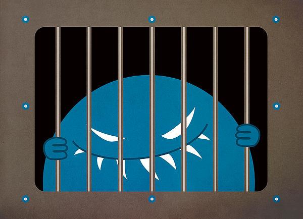 Evil Monster Kingpin Jailed Print by Boriana Giormova