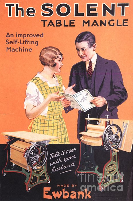 Ewbank 1920s Uk Washing Powder Solent Print by The Advertising Archives