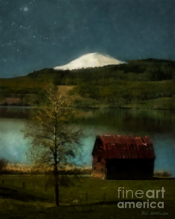 Excellence And Peace Print by RC DeWinter