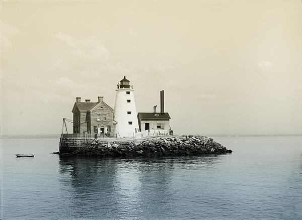 Execution Rocks Lighthouse New York Print by Digital Reproductions