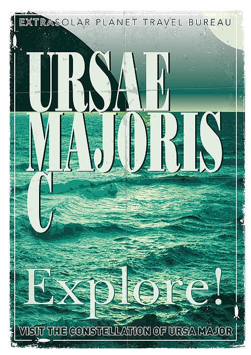 Exoplanet 03 Travel Poster Ursae Majoris Print by Chungkong Art
