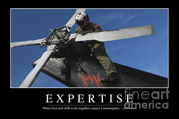 Expertise Inspirational Quote Print by Stocktrek Images