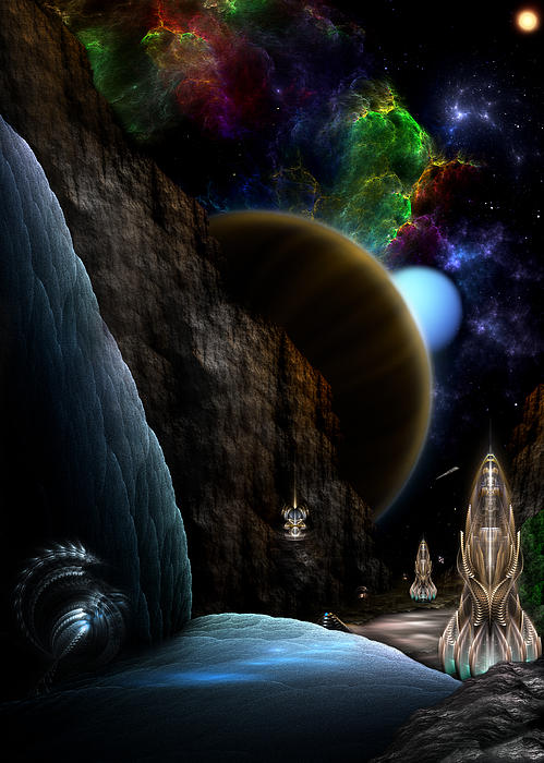 Exploration Of Space Print by Rolando Burbon