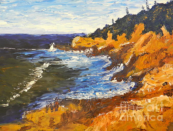 Exploring On The Rocks  Print by Pamela  Meredith