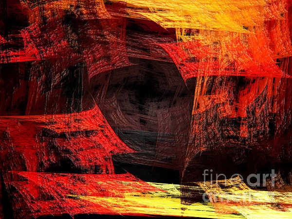 Eye Of The Storm 2 - Blown Away - Abstract - Fractal Art Print by Andee Design