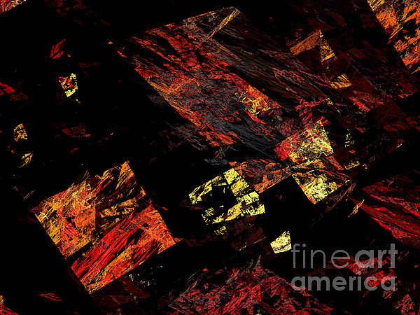 Eye Of The Storm 4 - Flying Debris - Abstract - Fractal Art Print by Andee Design