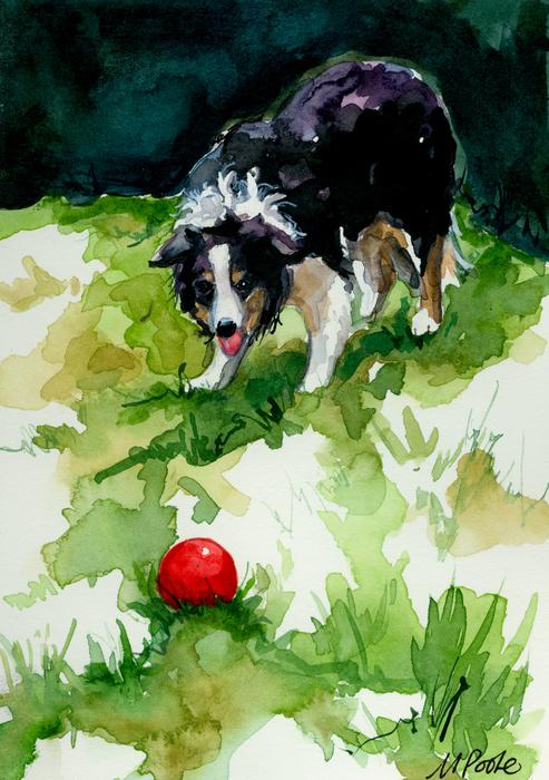 Eye On Tthe Ball Print by Molly Poole