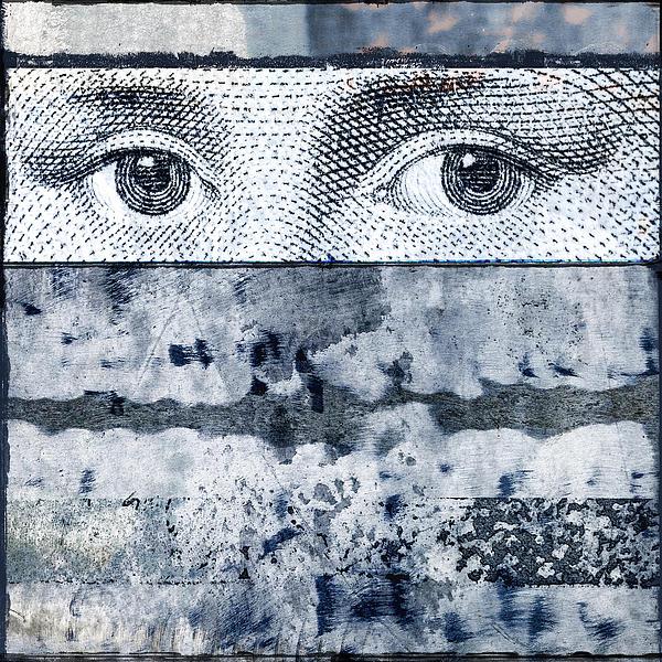 Eyes On Blue Print by Carol Leigh