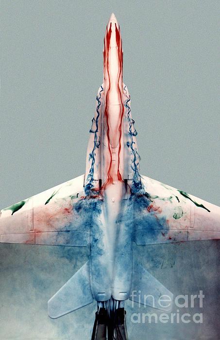 F18 Aerodynamics Print by Nasa Dfrc