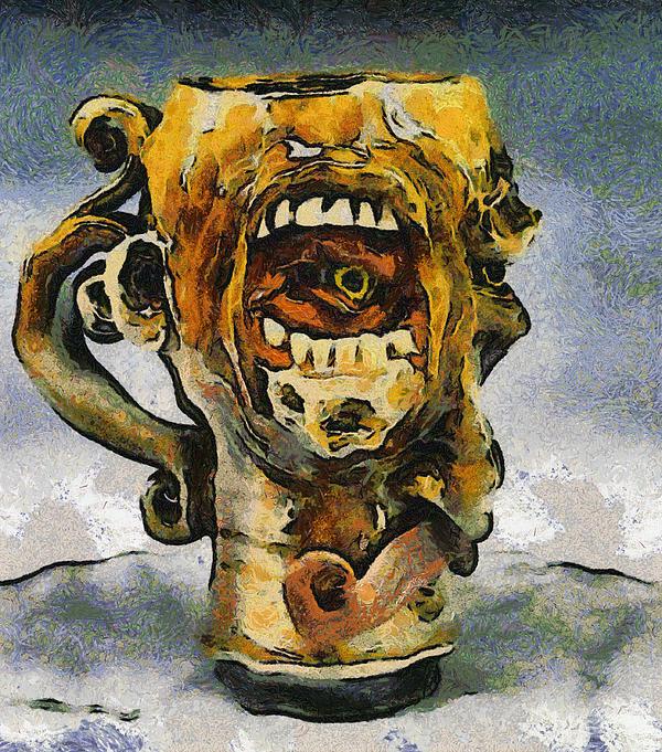 Face Mug By Face Jug  Print by Teara Na