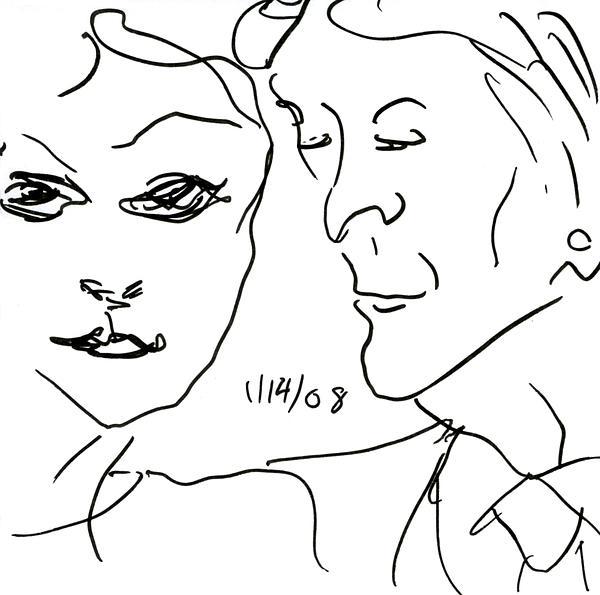 Faces II Print by Rachel Scott