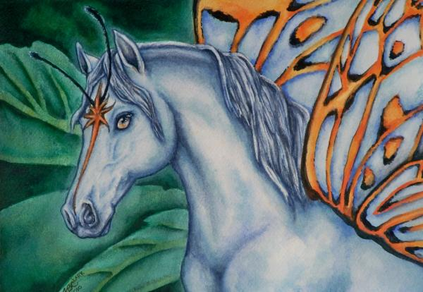 Faery Horse Star Fyre Print by Beth Clark-McDonal