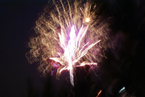 Fairies In The Fireworks I Print by Jacqueline Russell