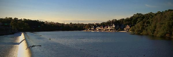 Fairmount Dam And Boathouse Row Print by Photographic Arts And Design Studio