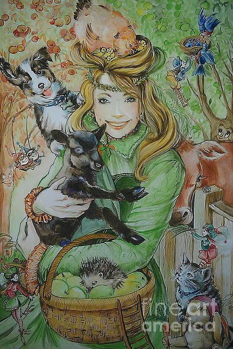 Fairy Hoppert Print by Ottilia Zakany
