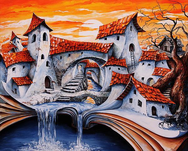 Fairy Tale City - Magic Stream Print by Emerico Imre Toth