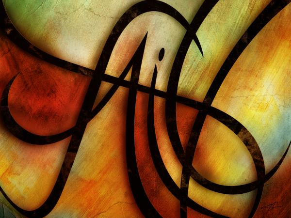 Faith Abstract Print by Shevon Johnson