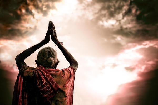 Faith And Prayers For Peace Print by Nila Newsom