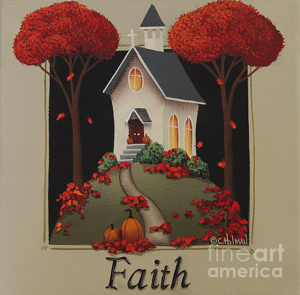 Faith Country Church Print by Catherine Holman