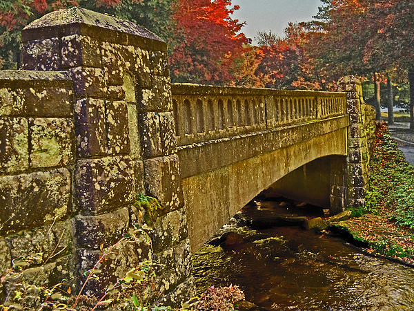 Fall Bridge Print by Larry Bishop