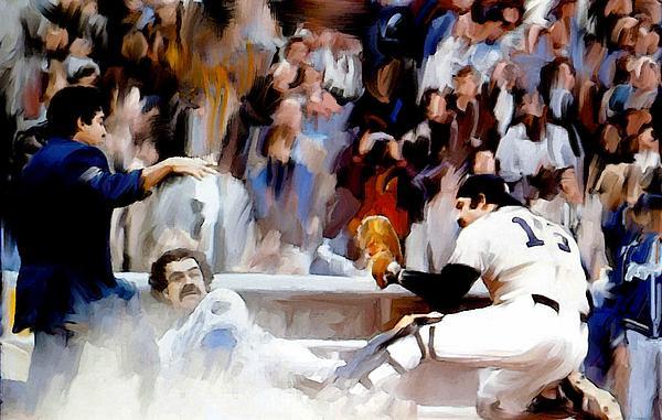 Fall Classic   Thurman Munson Print by Iconic Images Art Gallery David Pucciarelli