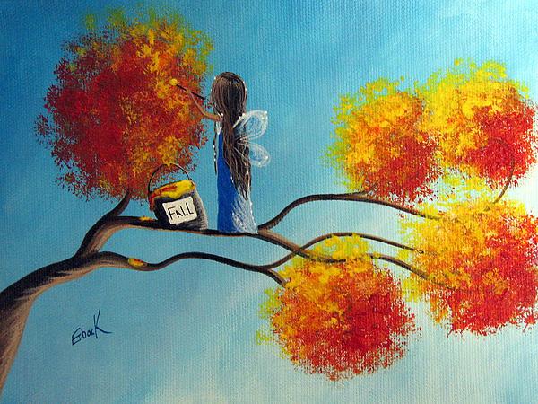 Fall Fairy By Shawna Erback Print by Shawna Erback