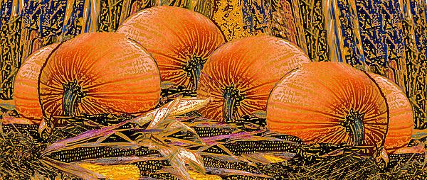 Michele  Avanti - Fall Harvest Pumpkins and Corn