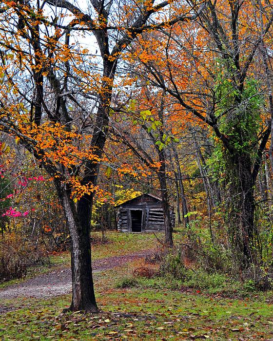 Fall Homestead Print by Marty Koch