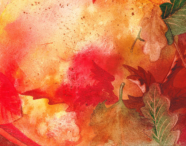 Fall Impressions Print by Irina Sztukowski