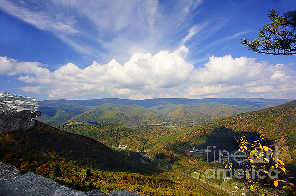 Fall Scene From North Fork Mountain Print by Dan Friend