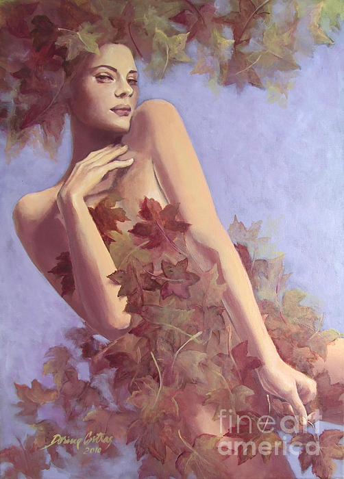 Fall...in Love... Print by Dorina  Costras