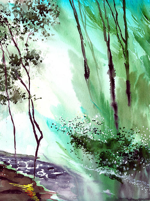 Falling Light Print by Anil Nene