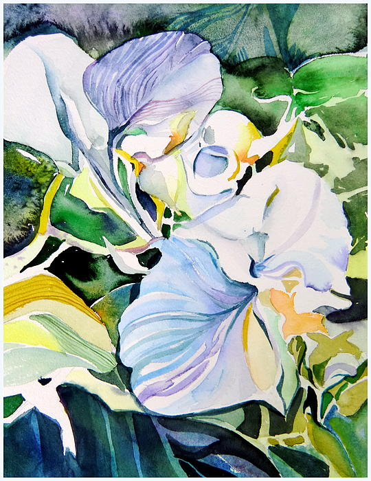 Falling Orchids Print by Mindy Newman