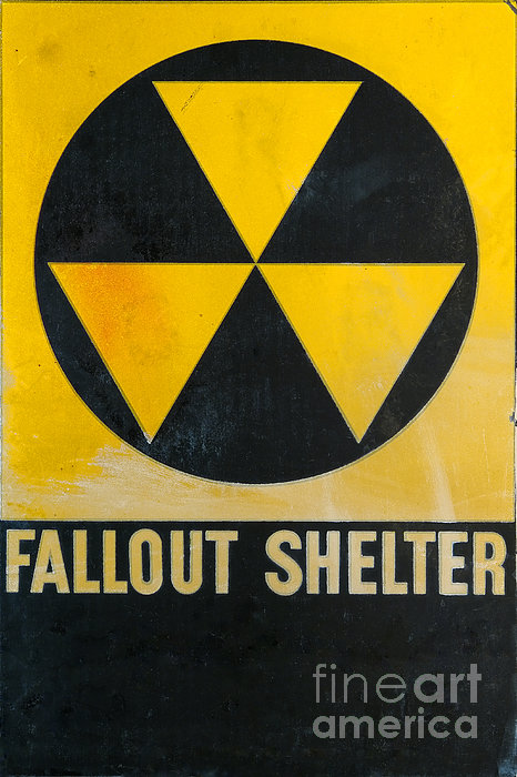Fallout Shelter Print by Olivier Le Queinec