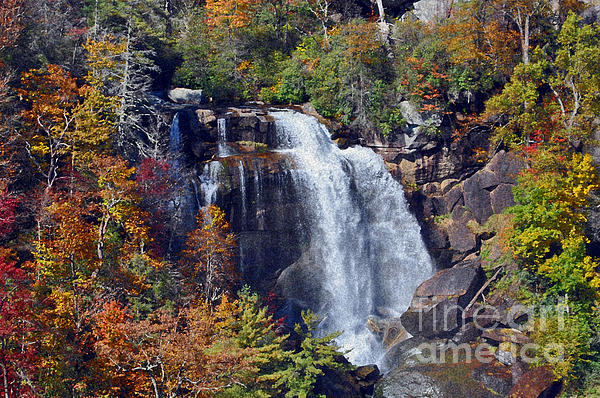 Falls In Fall Print by Lydia Holly