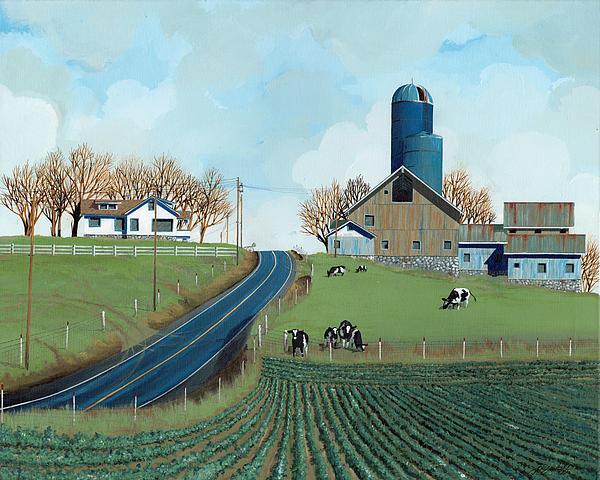 Family Dairy Print by John Wyckoff