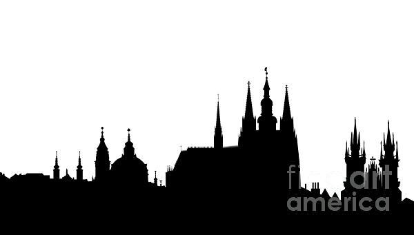 famous landmarks of Prague Print by Michal Boubin