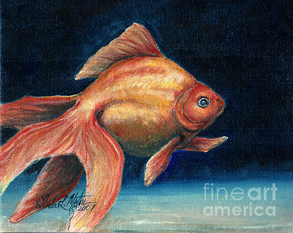 Goldfish Painting Canvas Prints and Goldfish Painting Canvas Art for Sale