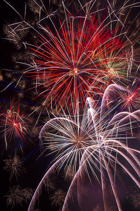 Fantastic Fireworks Print by Garry Gay