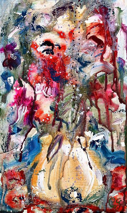 Fantasy Floral 2 Print by Carole Goldman