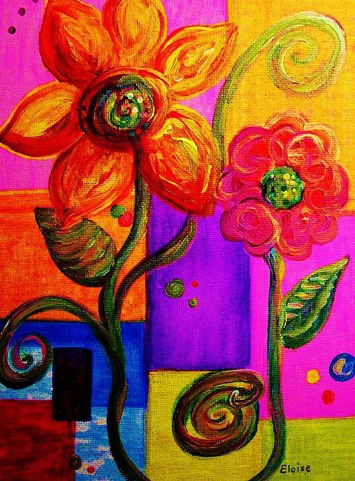 Fantasy Flowers Print by Eloise Schneider