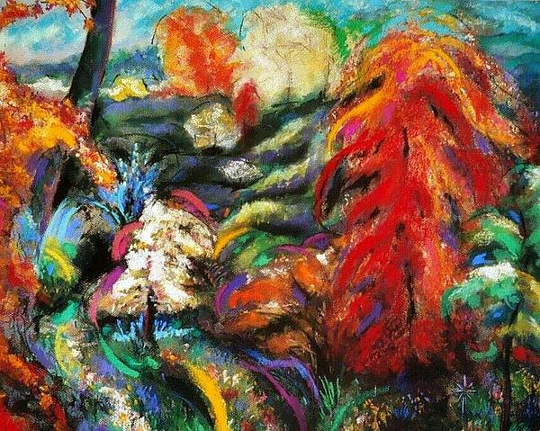 Fantasy Landscape Print by Jodie Marie Anne Richardson Traugott          aka jm-ART