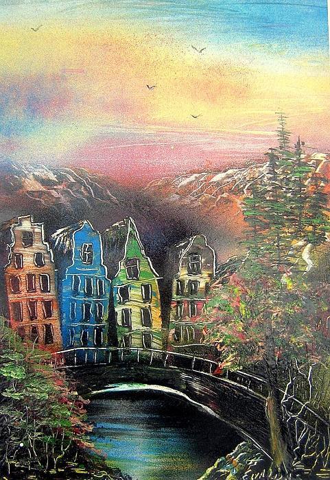 Far Far Away Print by Evaldo Art
