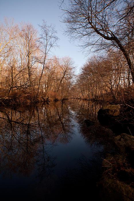 Far Mill River Reflects Print by Karol  Livote