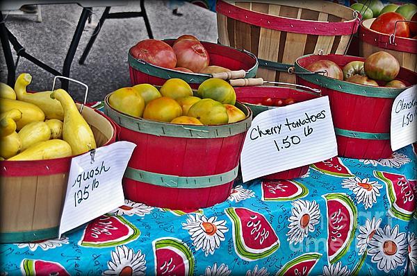 Farm Fresh Produce At The Farmers Market Print by JW Hanley
